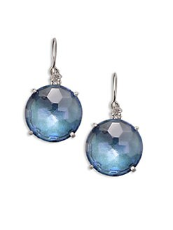 KALAN by Suzanne Kalan - 14K White Gold Blue Topaz Drop Earrings