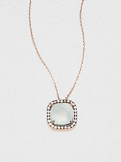 KALAN by Suzanne Kalan - 14K Rose Gold Semi-Precious Multi-Stone Pendant Necklace/White
