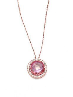 KALAN by Suzanne Kalan - 14K Rose Gold Semi-Precious Multi-Stone Pendant Necklace/Pink