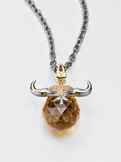 Stephen Webster - Taurus Topaz Astro Ball Pendant Necklace