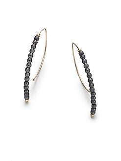 Mizuki - 14K Yellow Gold and Sterling Silver Marquise-Shaped Earrings