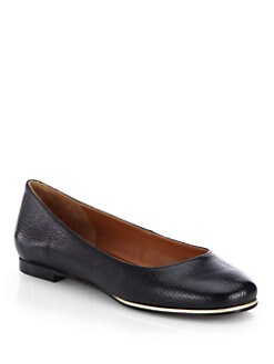 Givenchy - Pebbled Leather Ballet Flats