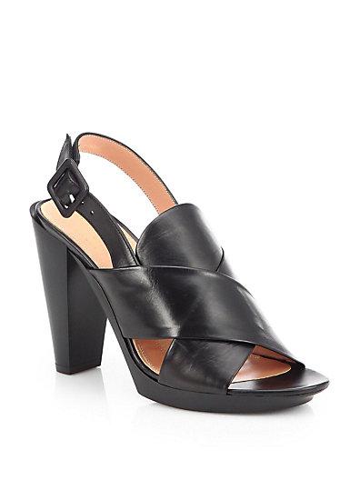 Xali Leather Crisscross Sandals