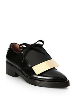 Marni - Polished Leather Oxford Platform Flats