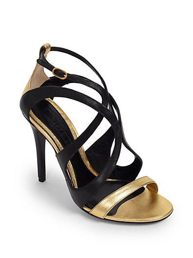 Skinny  Sexy Metallic Sandals