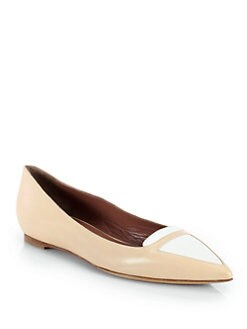 Tabitha Simmons - Alexa Bicolor Patent Leather Ballet Flats
