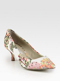 Stella McCartney - Floral-Print Canvas Pumps