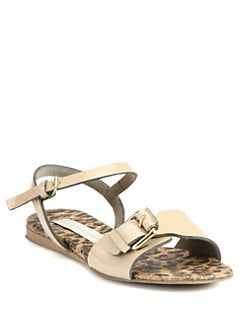 Stella McCartney - Faux Patent Leather Sandals