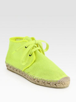 Stella McCartney - Mesh Lace-Up Espadrilles