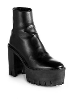 Stella McCartney - Faux Leather Platform Ankle Boots