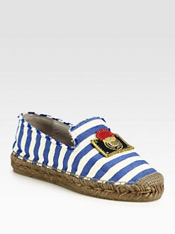 Marc Jacobs - Striped Canvas Espadrilles