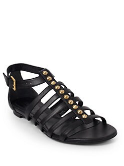 Alexander McQueen - Spine Studded Leather Sandals