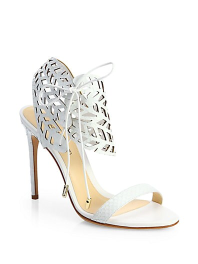 Alexandre Birman // Cutout Python Sandals
