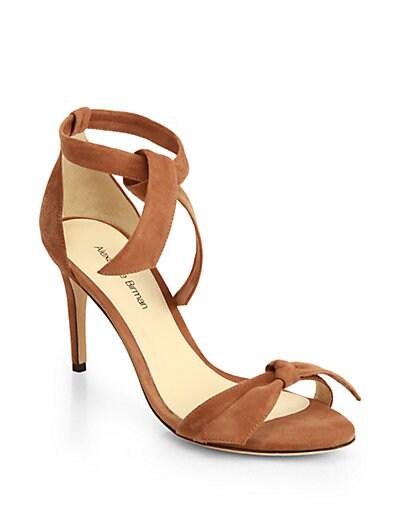 Suede Tie-Up Sandals