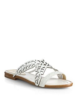 Alexandre Birman - Cutout Python Slide Sandals