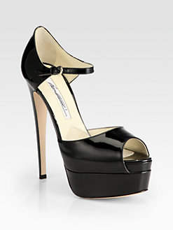 Brian Atwood - Tribeca Patent Leather Platform Sandals