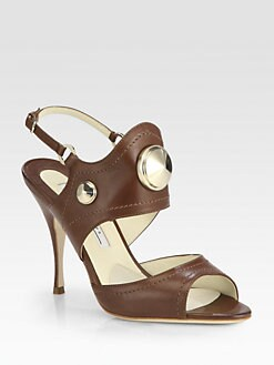 Brian Atwood - Afrodita Studded Leather Sandals