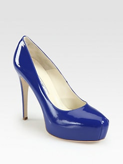 Brian Atwood - Maniac Patent Leather Platform Pumps