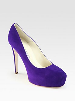 Brian Atwood - Maniac Suede Platform Pumps