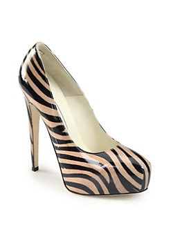 Brian Atwood - Maniac Tiger-Print Patent Leather Pumps
