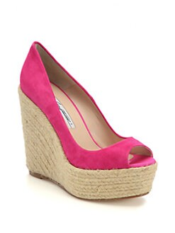 Brian Atwood - Alysha Suede Espadrille Wedges