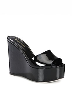 Sergio Rossi - Lakeesha Patent Leather Platform Sandals