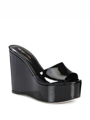 sergio rossi female 189104 lakeesha patent leather platform sandals