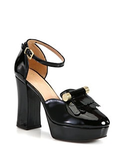 Robert Clergerie - Harume Patent Leather Loafer Pumps