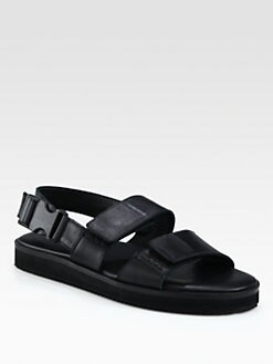 Christopher Kane - Leather Double Strap Sandals