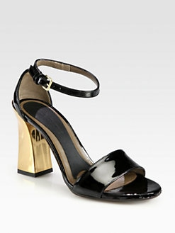 Marni - Patent Leather Ankle Strap Sandals