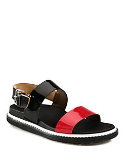 Marni - Patent Leather Banded Sandals