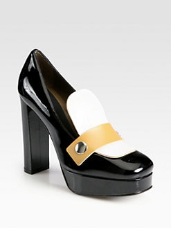 Marni - Colorblock Patent Leather Loafer Pumps