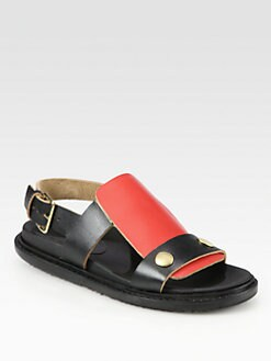 Marni - Bicolor Leather Sandals