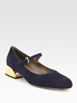 Marni - Suede Mary Jane Pumps