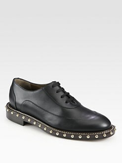 Marni - Leather Studded Lace-Up Oxfords