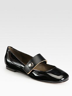 Marni - Patent Leather Mary Jane Ballet Flats
