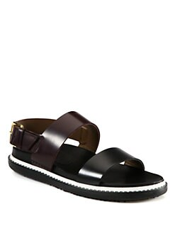 Marni - Double Banded Leather Sandals