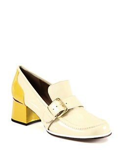 Marni - Bicolor Patent Leather Loafer Pumps