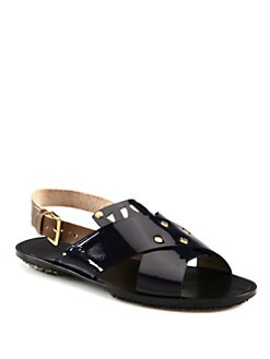 Marni - Bicolor Patent Leather Sandals