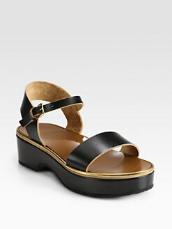 Marni - Leather Platform Sandals