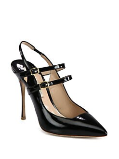 Nicholas Kirkwood - Patent Leather Double Strap Slingback Pumps