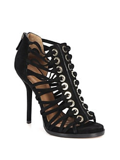 Givenchy - Suede Gladiator Platform Sandals