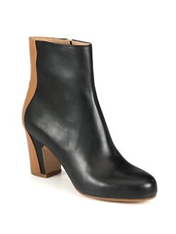 Maison Martin Margiela - Trompe L'Oeil Leather Ankle Boots