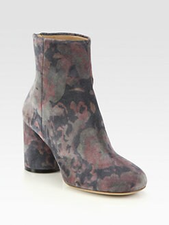 Maison Martin Margiela - Floral-Print Suede Ankle Boots