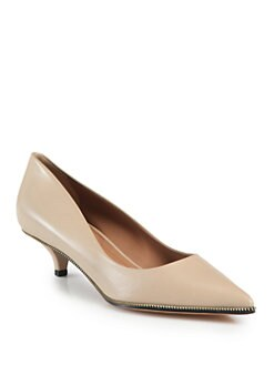 Givenchy - Leather Zipper Pumps