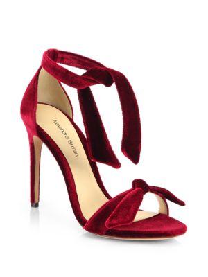 Alexandre Birman Velvet Tie Sandals