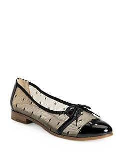 Jason Wu - Dorian Lace Mesh & Patent Leather Oxfords