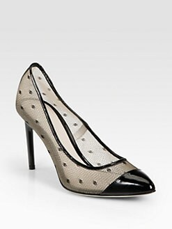 Jason Wu - Dovima Patent Leather & Lace Mesh Pumps
