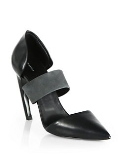 Proenza Schouler - Leather Banded d'Orsay Pumps