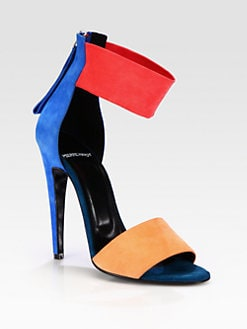 Pierre Hardy - Colorblock Suede Ankle Strap Sandals